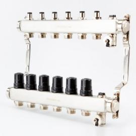 Коллектор для системы отопления BRASSMEN на 6 выходов
