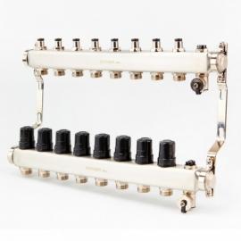 Коллектор для системы отопления BRASSMEN на 8 выходов