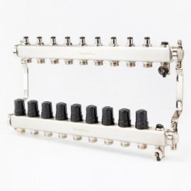 Коллектор для системы отопления BRASSMEN на 9 выходов