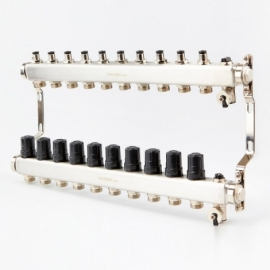 Коллектор для системы отопления BRASSMEN на 10 выходов