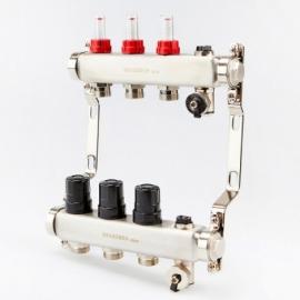 Коллектор для теплого пола с расходомерами BRASSMEN на 3 выхода