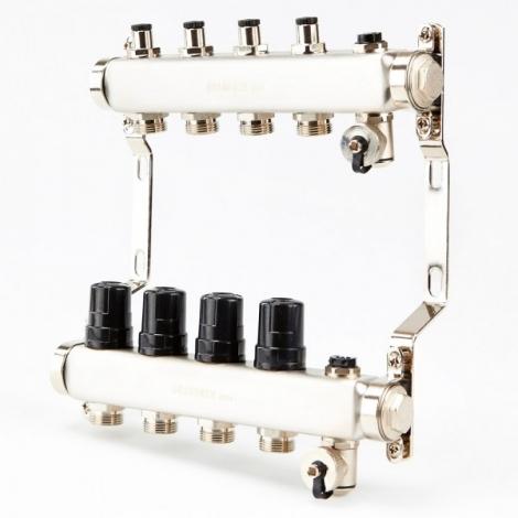 Коллектор для системы отопления BRASSMEN на 4 выхода