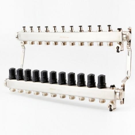 Коллектор для системы отопления BRASSMEN на 11 выходов