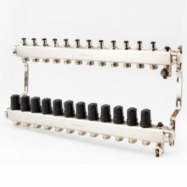 Коллектор для системы отопления BRASSMEN на 12 выходов